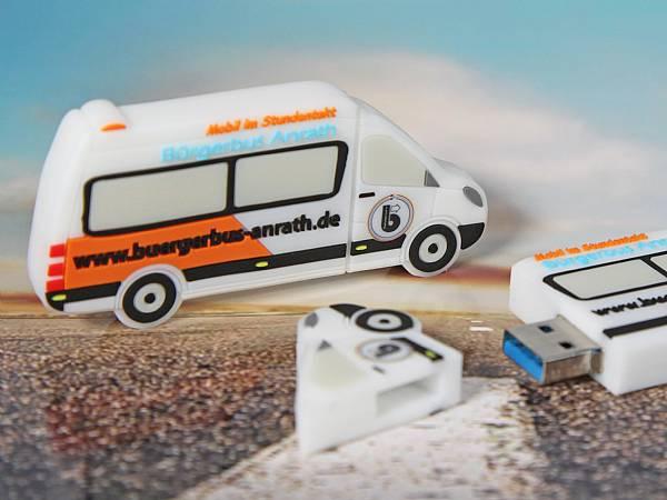 usb stick transporter van kleinbus sonderform logo
