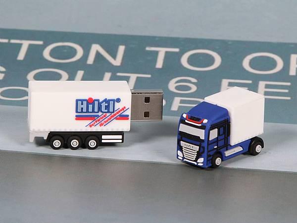 usb stick truck lkw sonderform logo werbung transport