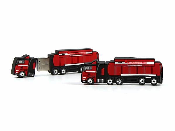 usb stick truck rot lkw transport werbung