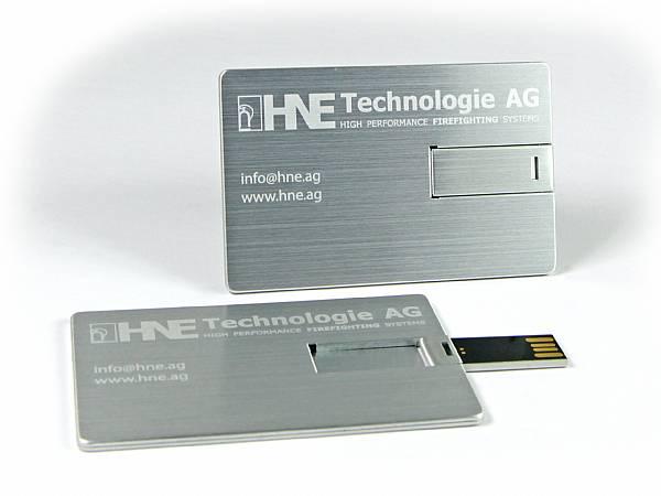 usb stick visitenkarte aluminium hochwertig edel logo