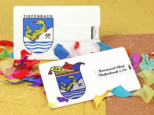 usb stick visitenkarte kunststoff werbung karneval logo wappen