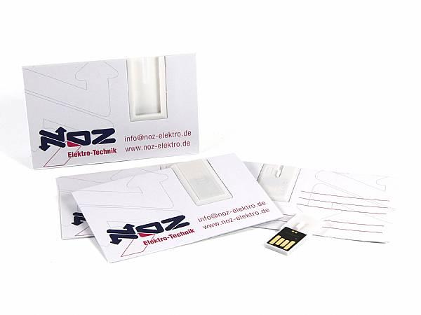 usb stick visitenkarte papier werbung logo visitenkarte
