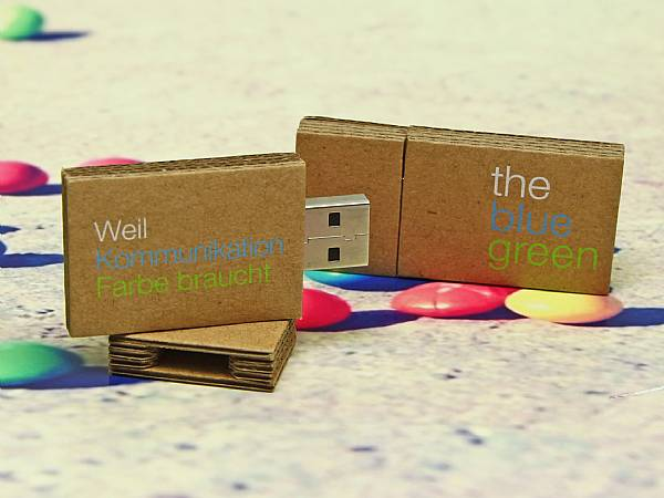 usb stick wellpappe natur karton druck logo