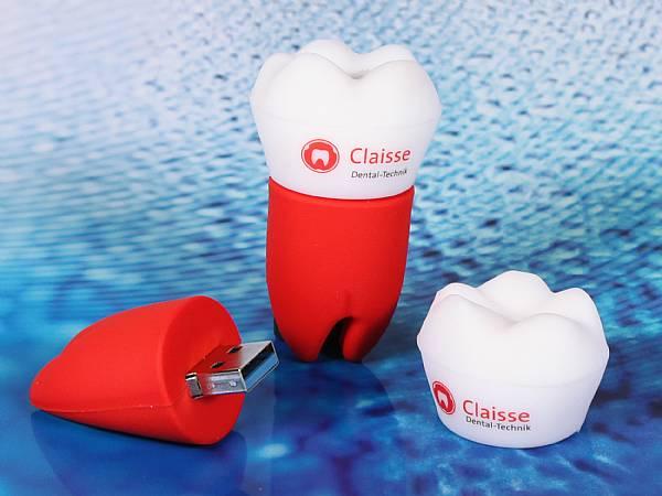 usb stick zahn zahnarzt sonderform logo praxis dental
