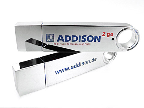 usb-stick addision hochglanz edel, Metall.12