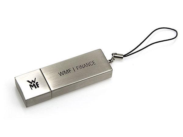 1c Logodruck, Alu.11, famous, WMF USB-Stick mit logo