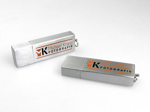 USB-Stick aluminium michael glanz, Alu.11