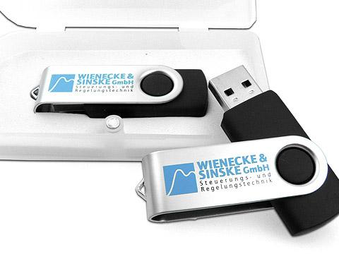 USB-Stick buegel swing schwarz text, Barato