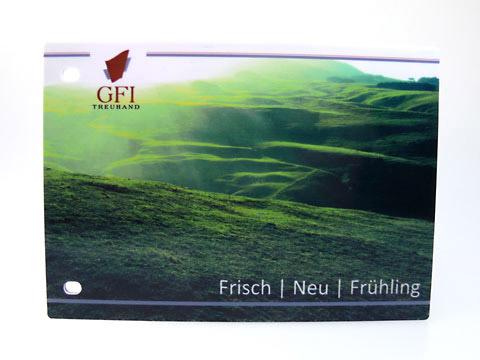 USB-Stick Karte flaechig-bedruckt abheftbar, USB plastic Card