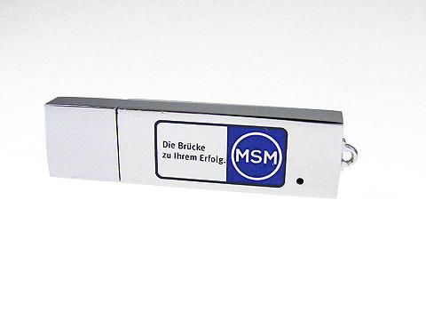 usb-stick msm hochglanz farbaufdruck, Metall.04