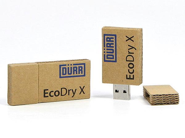 Wellpappe, papier, usb-stick, paper, print, logo, Aufdruck, braun