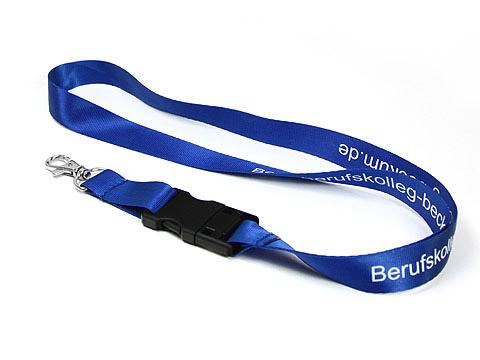 USB Lanyard umhaengeband blau, USB-Lanyard