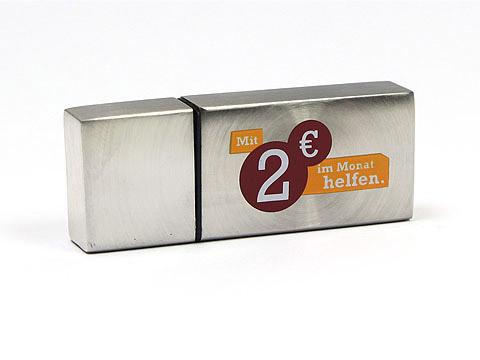 usb stick metall 09 silber, deckel, Metall.09