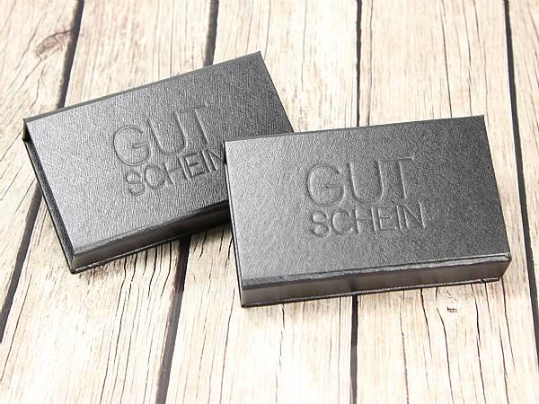 verpackung dongle box geschenk gutschein schwarz geschenkbox