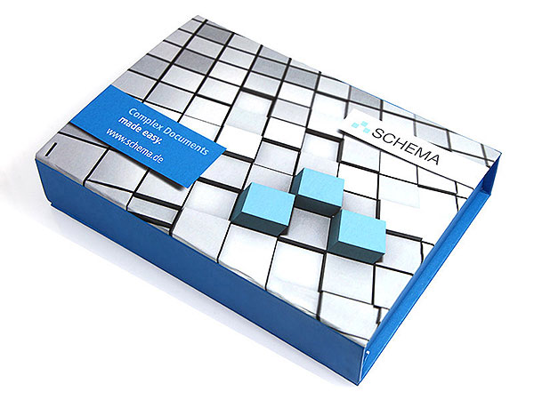 Verpackung Schema Digitaldruck, Individuelle Klappbox