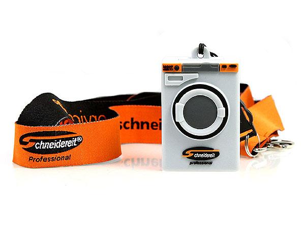 Waschmaschine, Haushaltsgerät, maschine, wash, usb, grau, orange, lanyard, umhängeband, textil