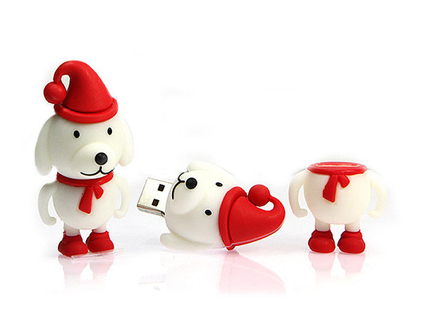 Weihnachten usb sticks, Winter, Hund, fun, CustomModifizierbar, PVC