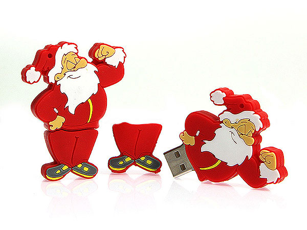 Weihnachtsmann usb sticks, Winter usb sticks, fun, CustomModifizierbar, PVC