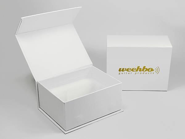 weiss geschenkverpackung mit logo