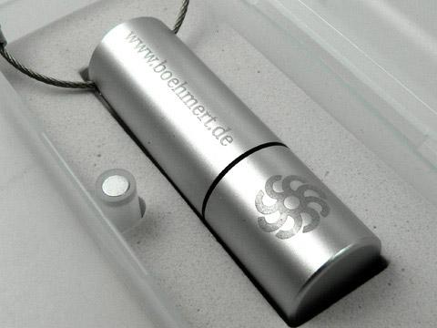Werbegeschenk USB-Stick Alu graviert Logo, schraubverschluss, Alu.14