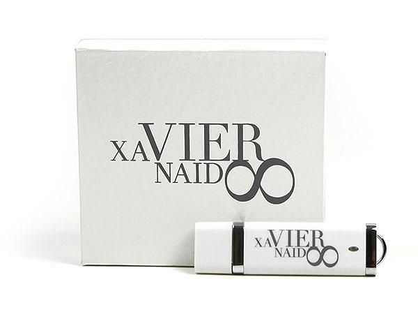 xavier naidoo geschenkverpackung usb-stick weiss aufdruck, K01 Magnetklappbox, famous,