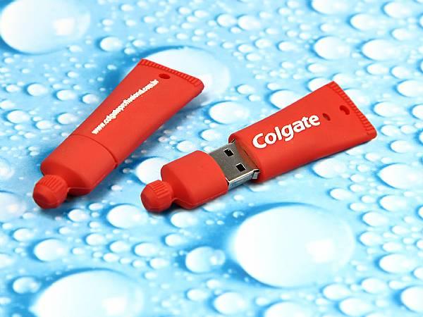 zahnpasta usb stick tube colgate rot mit logo
