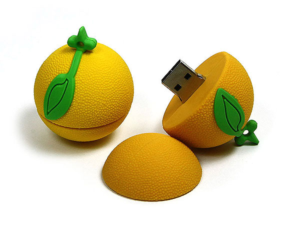 Food Orange, Zitrusfrucht, Obst, rund, usb orange, fun, CustomModifizierbar, PVC