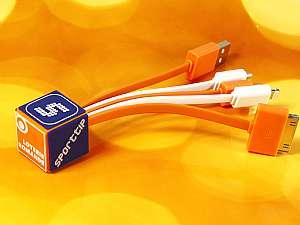 Individuelles Ladekabel 4 in 1, Adapterkabel mit individuellem Endstück