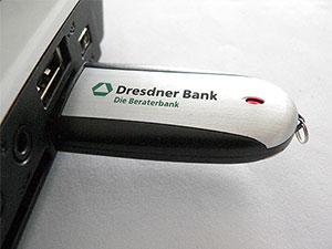 USB Stick aus Alu mit Aufdruck