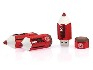 USB Buntstift, Stift USB-Stick mit Logo als Werbeartikel