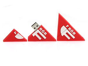 Dreieckiger USB-Stick als Logo