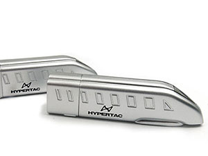 Kunststoff USB-Stick, Zugform, silber matt