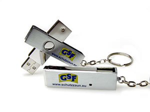 USB Stick mit Metallgehäuse, drehbarer USB-Stick