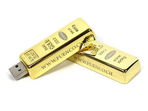 Fun USB-Stick in Goldbarrenform, Goldbarren USB Stick, gold