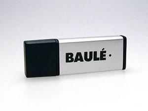 Kleiner USB Stick aus Aluminium mit Logo