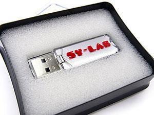 Kleiner silberner Kunststoff USB-Stick, Kunststoff.44