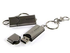 Edler USB Stick aus Aluminium mit Logo
