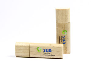 Edler USB-Stick aus Holz als idealer Werbeartikel mit Logo