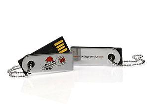 Eleganter Mini USB-Stick aus Metall, hoch glänzend