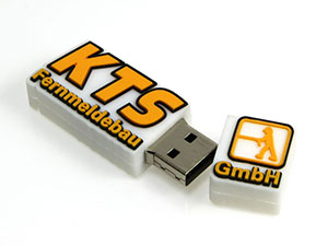 Rechteckiger USB Stick in Logoform