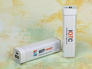 PowerPlex, der Akku für unterwegs. Moderner Werbeartikel für Smartphones