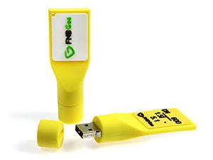 USB Gaspfosten mit integriertem USB-Stick