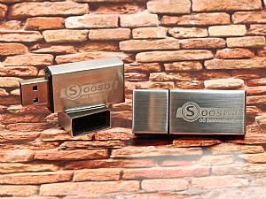 USB Stick aus Metall mit Firmenlogo