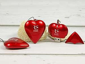 Kunststoff USB-Stick in Herzform
