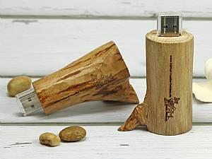 Naturholz, heller USB-Stick Holzast