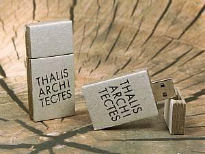 USB-Stick aus Karton, Graukarton, umweltfreundlich hergestellter Stick