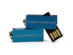 Herausdrehbarer Mini USB-Stick im Alu-Gehäuse