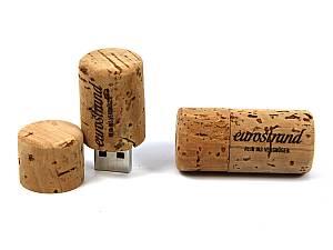 Echter Korken als USB-Stick, weiche Kanten