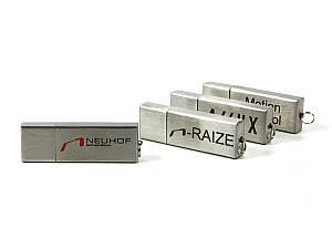 Klassischer USB Stick aus Aluminium, schlichtes Design