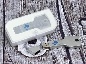 Metall USB Stick in Schlüsselform, praktisch als Schlüsselanhänger, Schlüsselbund